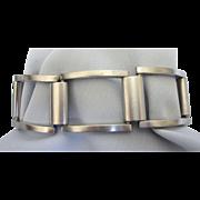 Sleek Brushed Stainless Modernist Design Bracelet