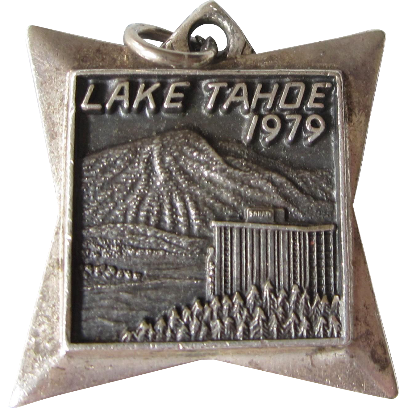 Vintage sterling lake tahoe 1979 travel charm from for Lake tahoe jewelry stores