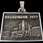 Vintage Broadmoor 1977 Sterling Travel Charm