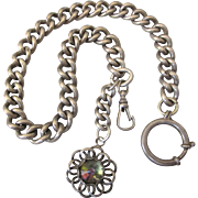 Victorian Large Sterling Watch Chain/Fob - Hallmarked