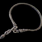 Vintage Sterling Wheat Chain Anklet or Large (Men's) Bracelet