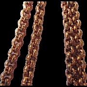 "Vintage Copper Belcher or Rolo Link 16"" Chain Necklace"