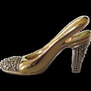 14K Gold and Diamond High Heel Shoe Pendant or Charm