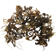 Victorian Georgian Woven Hair Floral Arrangement Sprigs Bows