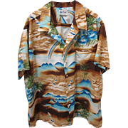 SALE!  Authentic 1980's Hawaiian Shirt, Kai Nani Hawaii, XXL XXXL