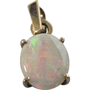 Vintage 375 9K Fire Opal Pendant or Charm