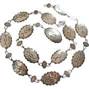 Vintage Sterling Stamped Concho Necklace or Belt