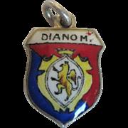 Vintage Diano Marina Enamel Travel Charm, 800 Silver