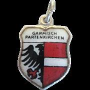 Vintage Travel Charm - Garmisch Partenkirchen Enamel 800 Silver