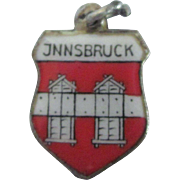 Vintage Innsbruck Enamel 800 Travel Shield Charm