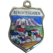 Vintage Berchtesgaden Germany Enamel 800 Travel Charm