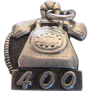 Vintage Sterling Bell Telephone Company 400 Rotary Dial Phone Charm