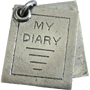 Vintage Sterling Silver Mechanical 'My Diary' Charm or Pendant