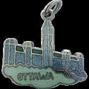 Vintage Sterling and Enamel Ottawa Travel Charm