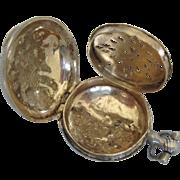 Antique Birmingham Sterling Perfume Pendant, John Lawrence & Co., Georgian Regency Era
