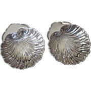 Pair of Sterling Silver Shell Nut, Mint, Ring or Butter Pat Dishes, 60.7 Grams!