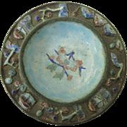Vintage Chinese Enamel Cloisonne Ring Dish, Small Bowl