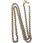 "Elegant Italian Sterling Silver Chunky Wheat 18"" Chain Necklace"