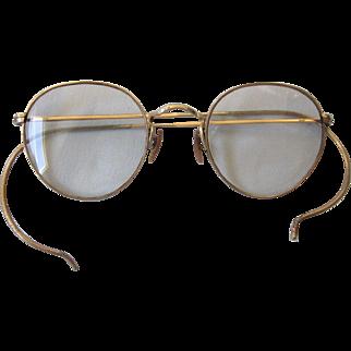 Vintage Gold Filled Full Rim Eyeglasses, Bifocal Prescription