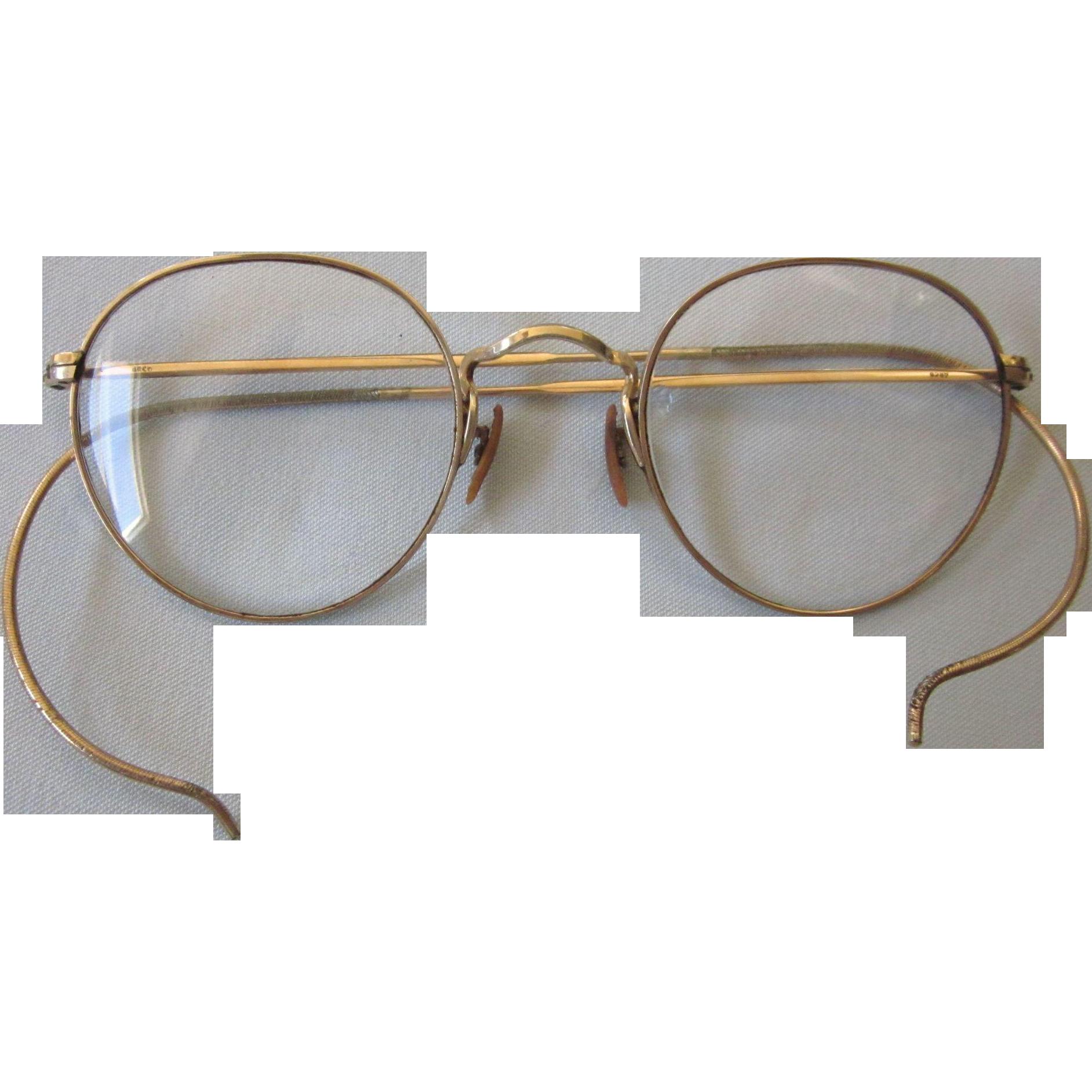 Gold Filled Eyeglass Frames : Vintage Gold Filled Full Rim Eyeglasses, Bifocal ...