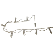 Vintage Rhinestone Swag Belt, 30 to 36 Inches