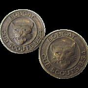 Pair of Vintage Bobcat Cub Scouts Pins.