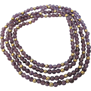 """Amethyst Bead 24"""" Long Rope Necklace"""