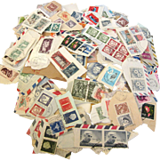 Vintage 1960's Stamp Collection - 200+ Stamps - Used/Cancelled