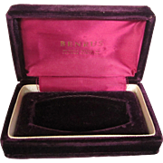 Vintage Benrus Box, Official Watch of Famous Airlines Burgundy Velvet and Satin