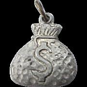 Vintage Sterling Money Bag Charm