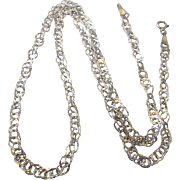 """Fancy, Lacy Sterling Silver 17-3/4"""" Chain Necklace"""