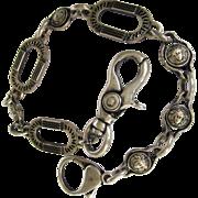 Authentic Vintage Versace Medusa Silvertone Chain