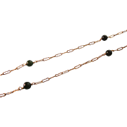 """Delicate Gold Filled and Jade Bead 16"""" Necklace"""