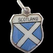 Vintage Scotland Travel Shield Enamel Charm