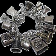 Sterling Bells Are Ringing!   All Vintage Sterling Bells Charm Bracelet, 38.5 Grams