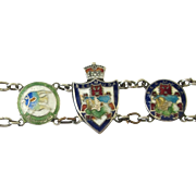 Vintage Sterling Enamel Bermuda Souvenir Travel Bracelet