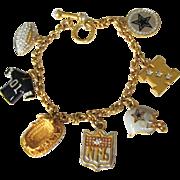 Dallas Cowboys Swarovski Crystal Charm Bracelet