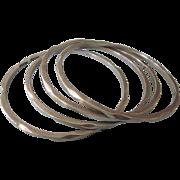 Vintage Mexican Set of Four Bangle Bracelets