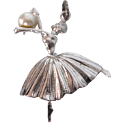 Vintage Sterling and Pearl Ballerina 3-D harm