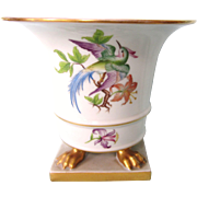 Vintage Herend Urn Vase, Tropical Bird and Floral