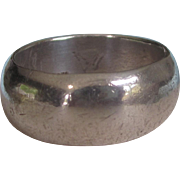 Vintage Heavy, Wide Sterling Men's Band Ring, Size 13, 16.5 Grams
