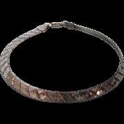 """Vintage Milor Sterling Reversible Herringbone 7"""" Bracelet, Italy"""