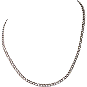 """Vintage Sterling Double Link Italian 18"""" 'Charm' Chain Necklace"""