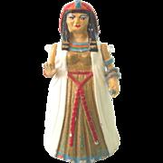 1989 Minnie Maria Miniature Cleopatra Pewter Thimble, Doll House Accessory