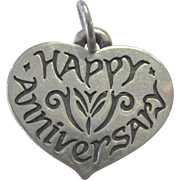 Signed James Avery Happy Anniversary Heart Charm