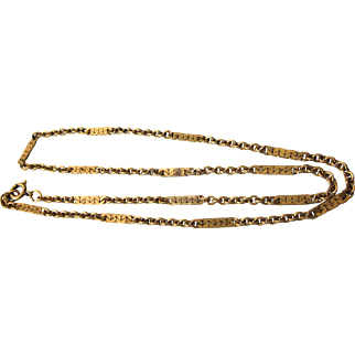 "Lovely Gold Filled Fancy Link 15"" Chain Necklace"