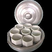 Scarce Vintage French Yalacta Yogurt Maker Complete Set With Porcelain Cups