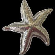 Vintage Signed Beau Sterling Starfish Brooch