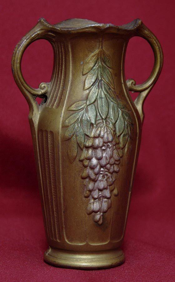 """Small French Bronze Vase - Wisteria - 4 1/2"""""""