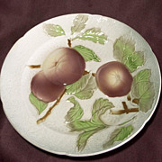French Majolica Apple or Peach Plate